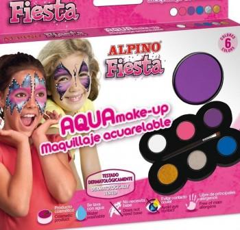 ALPINO Estuche de maquillaje 6 colores fiesta aqua make-up ACUARELABLE