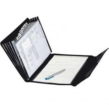 CINKO Carpeta acordeon pvc A4 6 compartimentos negro + block