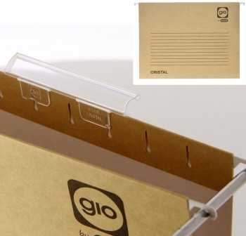 ELBA Pack 5 Carpeta colgante A4 Visor lateral kraft