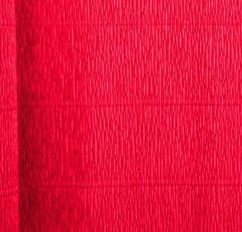 F7I Bobina papel crepe 50x250cm metalizado ROJO