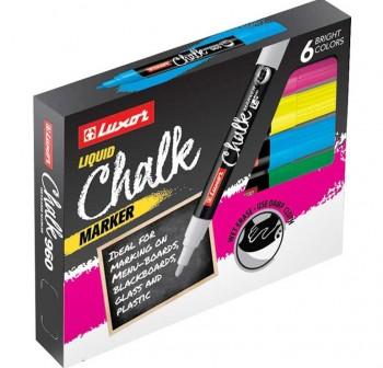 """LUXOR Pack de 6 rotuladores de tiza liquida 3050 \""""CHALK\"""""""