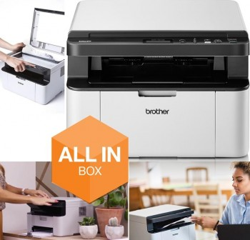 BROTHER Impresora InkJet multifuncion monocromo  A4 Wifi Dúplex (DCP1610W)