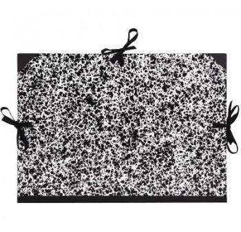 F7I Carpeta elastico en A3 dibujo blanco/negro