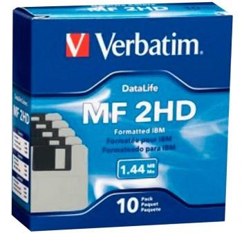 """VERBATIM Diskettes 3,5\""""\"""" HD 1.44Mb (10)"""