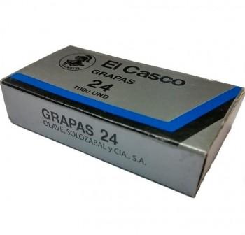 Caja 1000 grapas galvanizadas El Casco 24