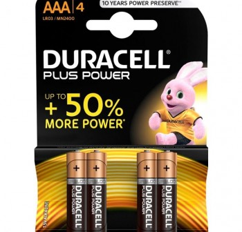 Pack 4 Pilas Duracell plus AAA MN 2400-LR03
