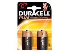 Pack 2 pilas alcalinas plusDuracell c plus MN1400-LR14