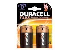 Pack 2 pilas alcallinas plus Duracell d plus MN1300-LR20