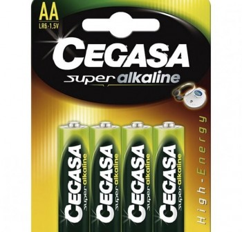 Pack 4 pilas Cegasa super alcalina AA LR6