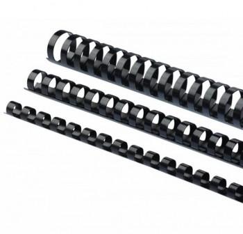 Caja 100 canutillos plástico 18mm negro