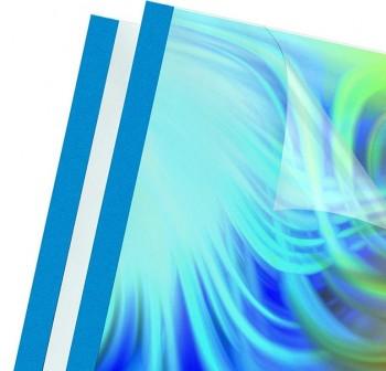 Caja 100 Carpetas encuadernación térmica yosan A4 6mm azul