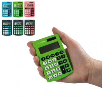 MILAN Calculadora 8 digítos bolsillo pocket touch con tacto de goma colores surtidos