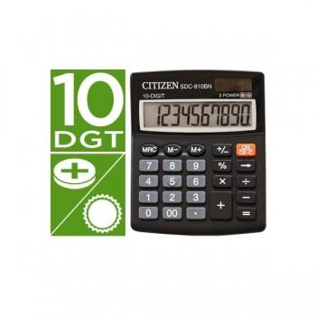 Calculadora citizen sobremesa sdc-810 bn 10 dígitos