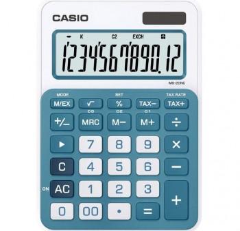 Calculadora de sobremesa casio MS20nc 12 dígitos azul