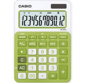 Calculadora de sobremesa casio MS20nc 12 dígitos verde