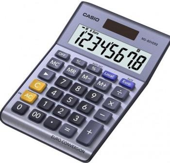 Calculadora de sobremesa casio MS80VerII 8 dígitos acabado metal