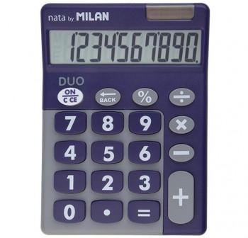 Calculadora de sobremesa con tacto de goma 10 dígitos morado