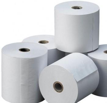 Paquete 10 rollos 2h papel autocopiativo 75x65mm de diámetro mandril 12mm