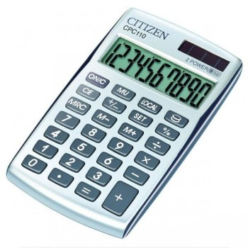 Calculadora de bolsillo Citizen CPC-110 financiera 10 dígitos