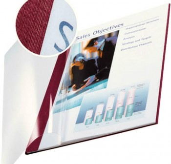 Pack 10 tapas flexibles encaudernacion clasic A4 3,5mm burdeos