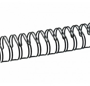 Caja 100 espirales metálicos GBC 18mm paso 5:1 negro