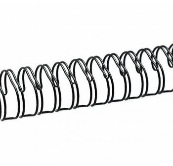 Caja 100 espirales metálicos GBC 6mm paso 5:1 negro