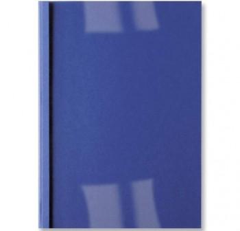 Caja 100 carpetas encuadernación térmica Ibileather a4 4mm para 40h azul