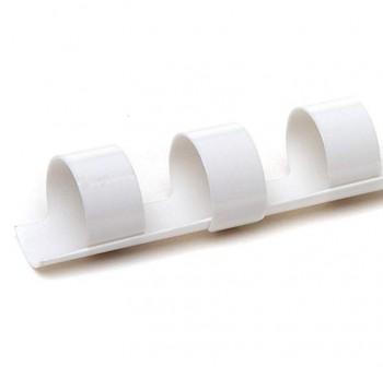 Caja 100 canutillos plástico  10mm blanco