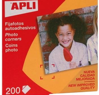APLI Etiqueta fijafotos autoadhesivos