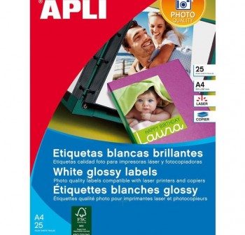 APLI Etiqueta l/c adh.perm.glossy A4 c10hoj 200X289 10udes