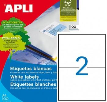 APLI Etiqueta i/l/c adh.perm.c/recto c-200 DIN-A5 148x210 200unds
