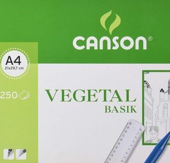 Pack 250 Láminas vegetal 90-95gr A4