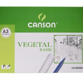 Mini-pk 12 Láminas papel vegetal 90gr A3
