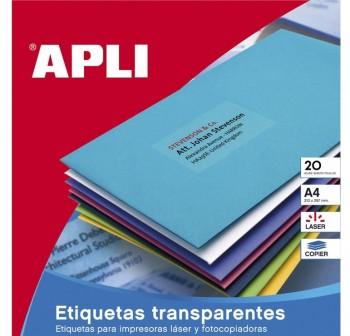 APLI Etiqueta laser / copy poliester A4 20hojas