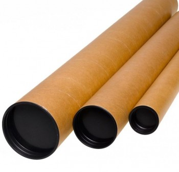Tubo de cartón para envios con tapa 80X610mm