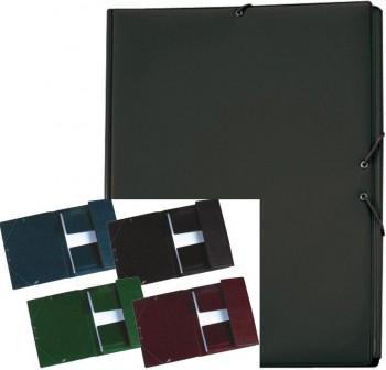 IBERPLAS Carpeta elastico con solapa plastificado folio