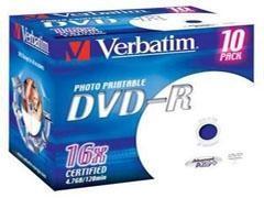VERBATIM DVD-R 16X 4,7GB verbatim printable