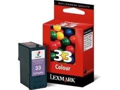 LEXMARK Cartucho inkjet 0018C0033 tricolor orig.nº33 (190pag)