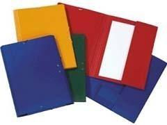 PAPIER Carpeta elastico con solapa gofrada folio