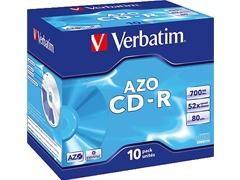 VERBATIM CD-RW 700Mb 80minutos 16X-24X