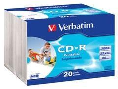 VERBATIM CD-R 700Mb.52x printable jewel case