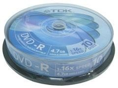 TDK DVD-R 1-16x 4,7GB pack-10