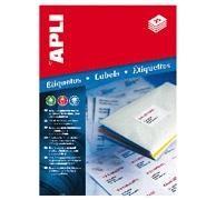 APLI Etiqueta inkjet / laser / copy A4 removible cantos romos 25hojas