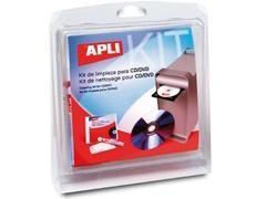 APLI Kit de limpieza para CD/DVD