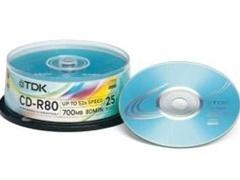 TDK CD-R 1-52x 700Mb 80 minutos tarrina