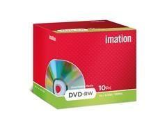 Pack 10 DVD-Rw Imation 4.7GB 4x tartera