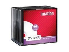 Pack 10 DVD+R Imation 4.7GB 16x caja slim