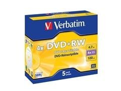 Caja 5u DVD+RW 4x regrabable
