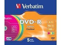 Caja slim 5u DVD-R 16x