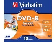 Caja slim 10u DVD-R 16x imprimible